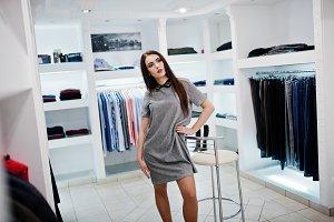 girl shopping clothing store