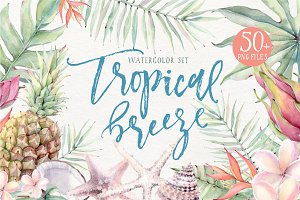TROPICAL BREEZE Watercolor set