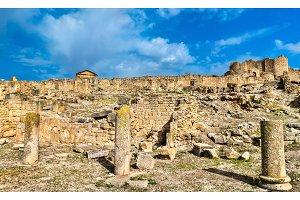 View of Dougga, an ancient Roman town in Tunisia