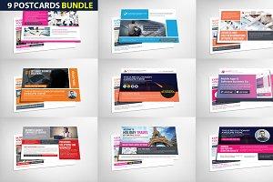 9 Business Postcards Bundle