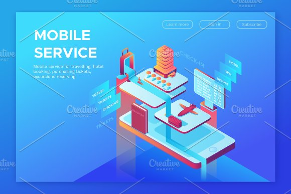 Mobile Travelling Isometric Set