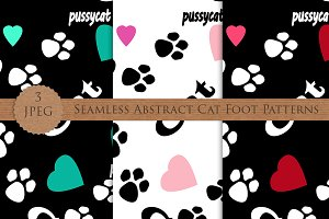 CAT FOOT abstract seamless pattern