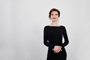 woman in black evening dress