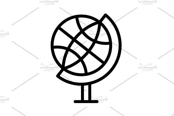 The Globe Line Icon Vector