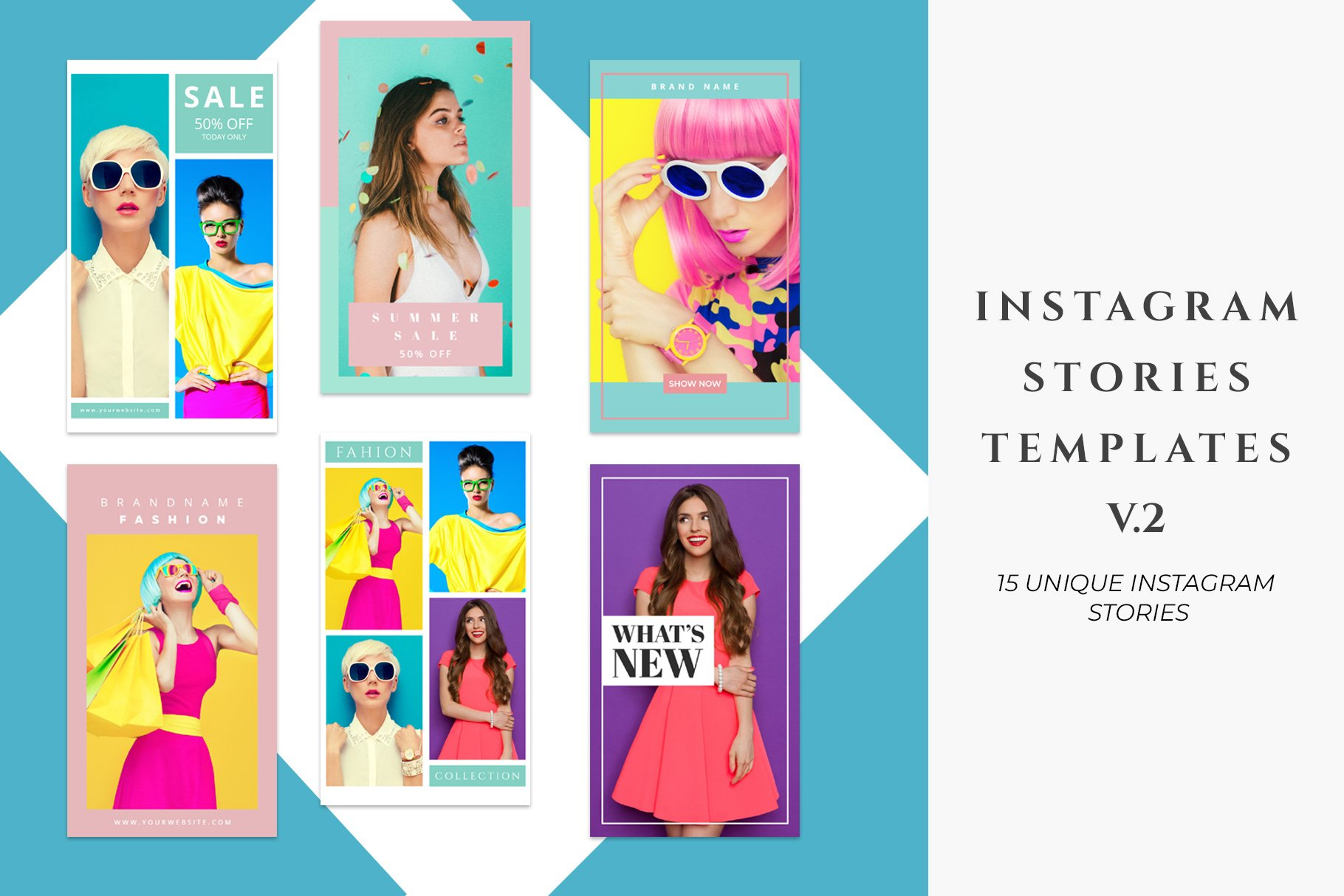 Instagram Stories Templates V2 Social Media Templates Creative