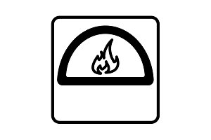 oven line icon. vector illustration