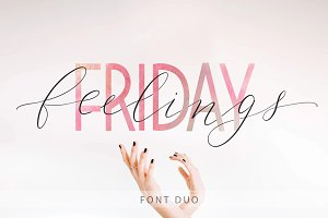 Friday feelings. Font Duo.