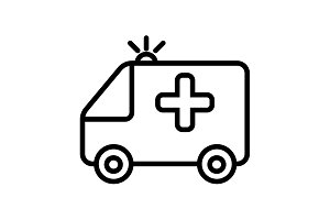 ambulance icon. vector illustration