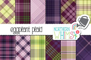 Purple and Green Plaid Patterns