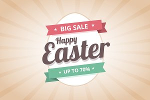 Happy Easter Sale illustration.