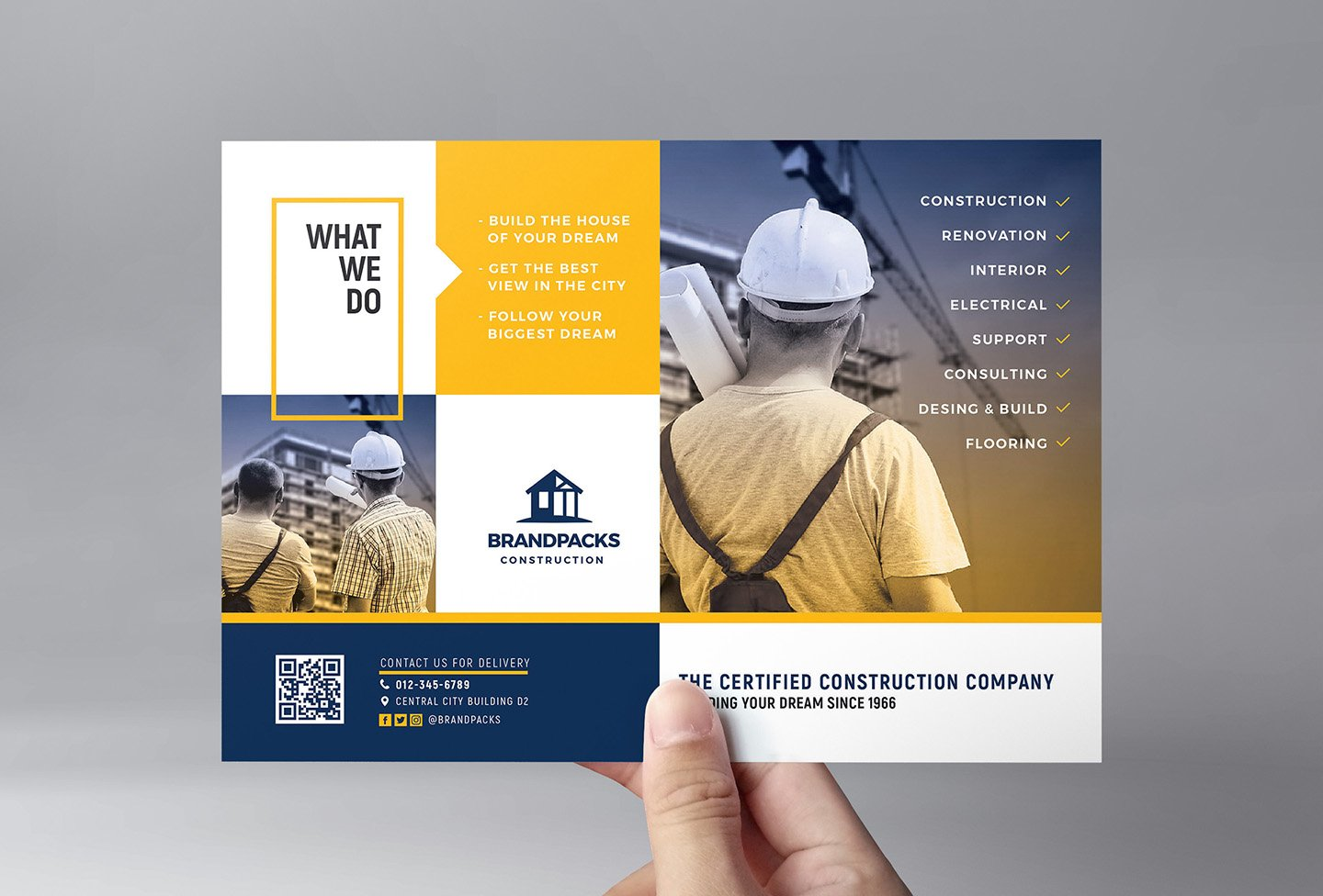 Construction Flyer Template ~ Flyer Templates ~ Creative ...