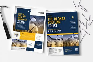 Construction Poster/Flyer Templates