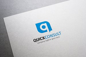 Quick Consult Q Letter Logo
