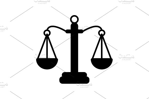 Pictograph Of Justice Scales Vector