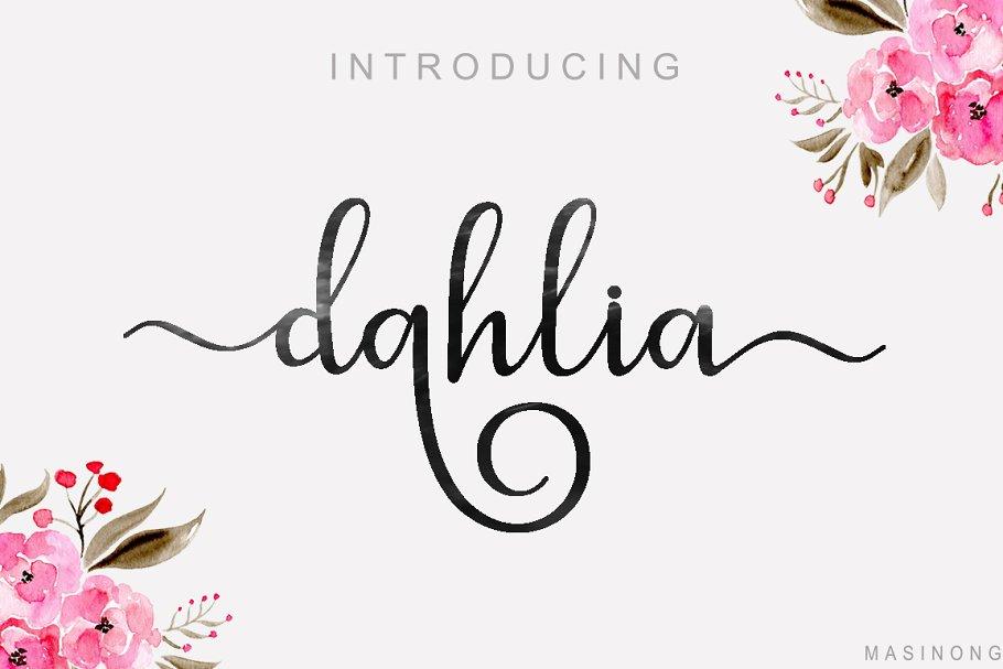 Best dahlia script Vector