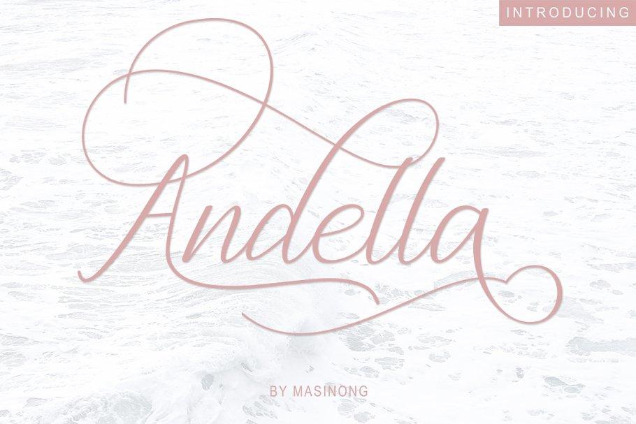 Andella Script   30% Off
