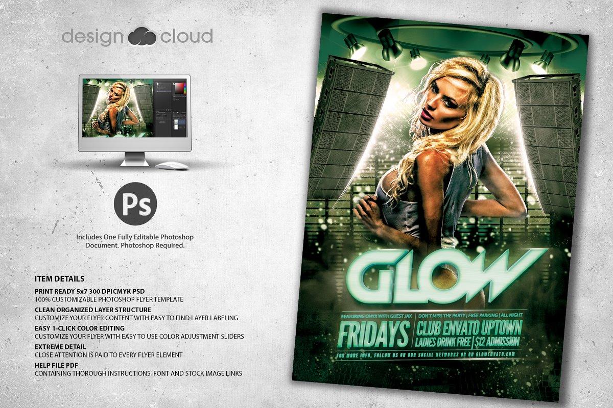 Glow - Club Flyer Template