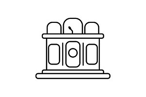 Jury line icon. vector illustration