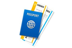 Travel documents passport and ticket