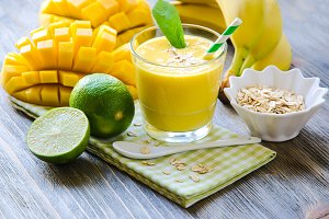 Mango smoothie for healthy snack