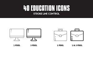 40 Education Icon Set