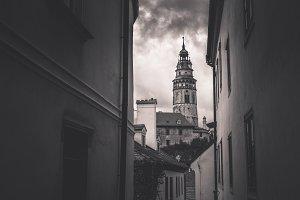 Castle tower. Cesky Krumlov