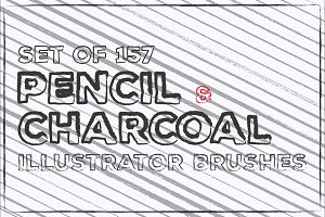 Pencil Charcoal Illustrator Brushes