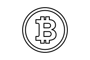 bitcon icon outline