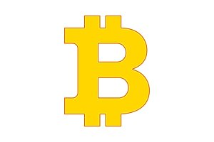 bitcon sign icon gold