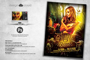 Jungle Fever Club Flyer Template