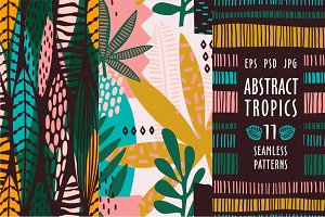 Abstract tropics. 11 patterns