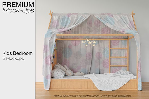 Kids Bedroom Mockup Set