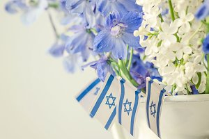 Blue Flower, White Flower, Israel
