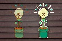 The idea of a plant bulb