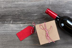 Red wine and gift