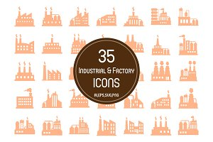 35 Industrial & Factory Icons