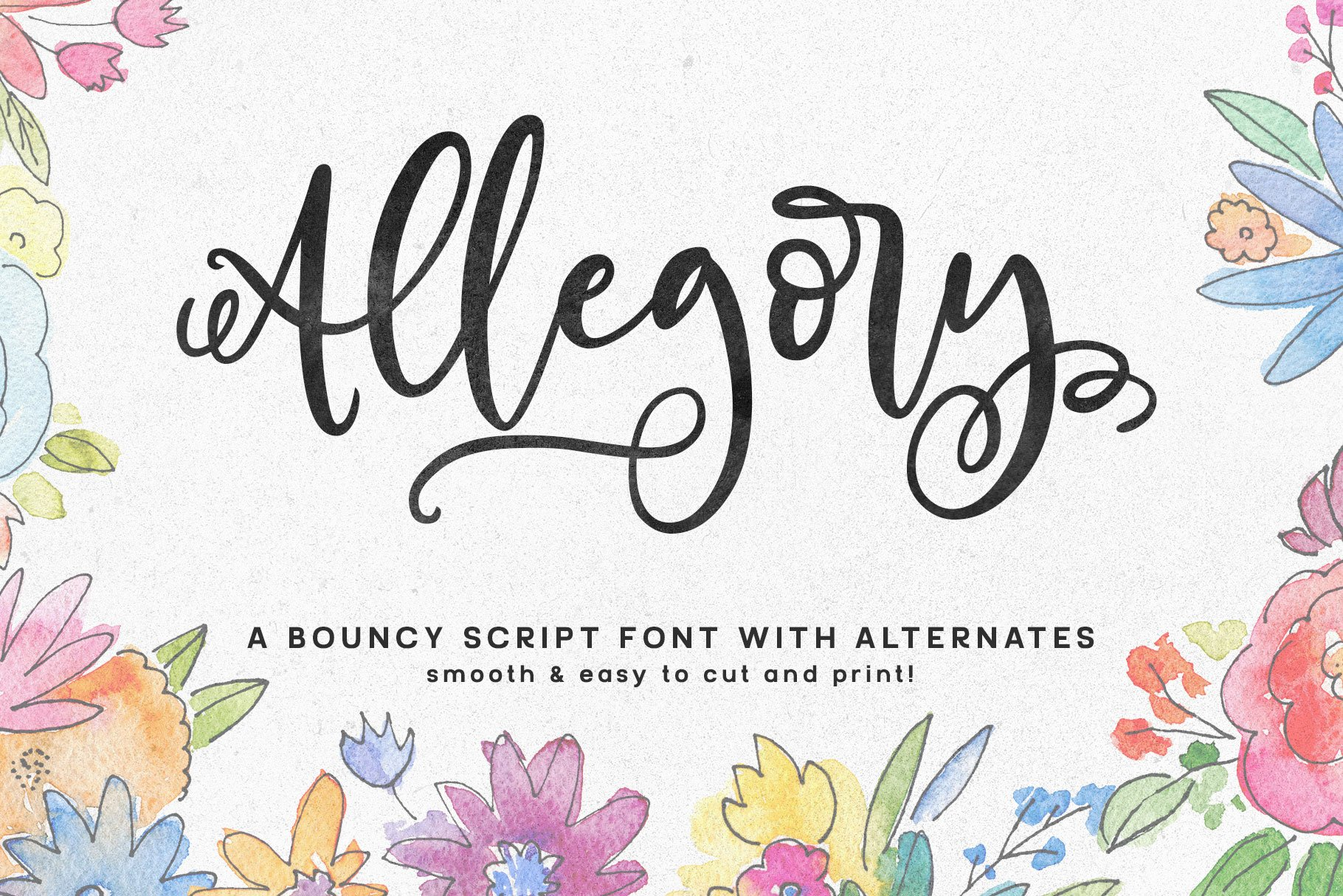 Allegory A Fun And Bouncy Script Fonts Creative Market
