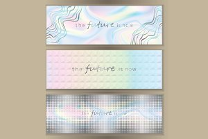 Holographic Web Banner Set