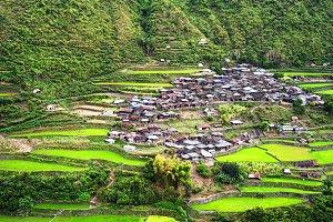 Village in Cordillera mountains