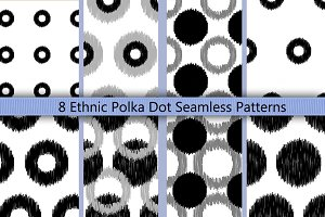 Boho Polka Dot Seamless Pattern