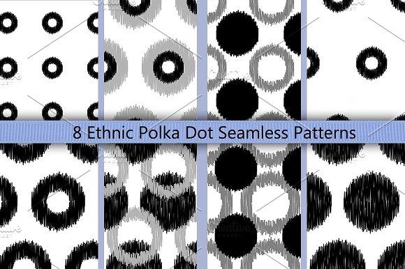 Boho Polka Dot Seamless Pattern