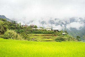 Rice terrace & village, Philippines
