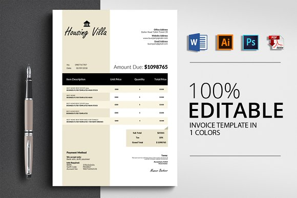 Invoice Template 4 Format