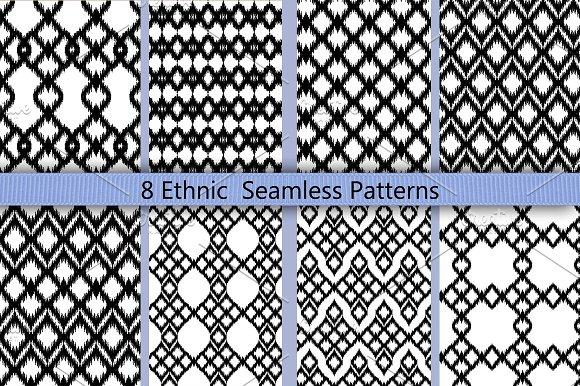 Boho Geomatric Seamless Pattern Set