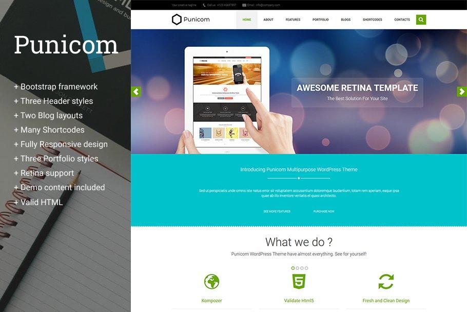 Punicom Multipurpose HTML5 Template ~ HTML/CSS Themes ~ Creative Market