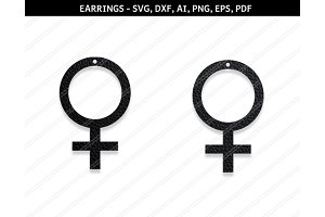 Venus earrings svg,dxf,ai,eps,png