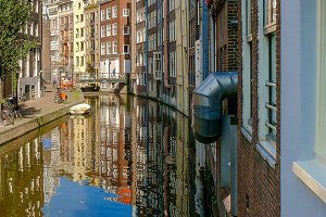 Amsterdam buildings. Netherlands