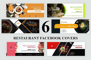 6 Restaurant Facebook Covers