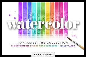 Watercolor & Glitter Styles Bundle