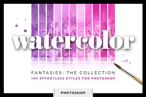 Watercolor Glitter Styles Photoshop